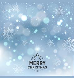 merry christmas with snowflake and lighting vector image vector image