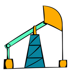 oil pump icon icon cartoon vector image