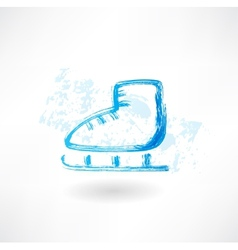 One skate grunge icon vector image vector image