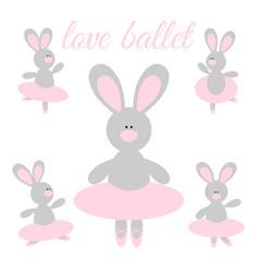 rabbit ballerina vector image vector image