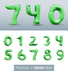 Set of color plasticine figure vector image vector image
