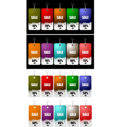 set of discount sale tag vector image vector image