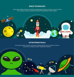 space technology banners set vector image vector image