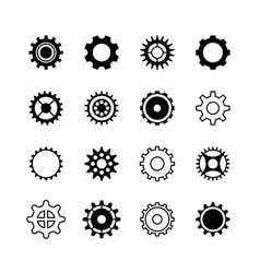 transmission gear wheel engine gearshift vector image vector image