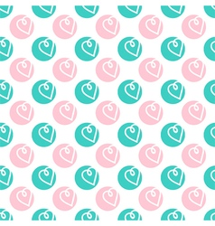 Valentines Day doodle hearts seamless pattern vector image