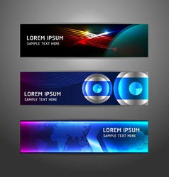 Collection abstract banner design Horizontal vector image