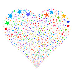 confetti star fireworks heart vector image