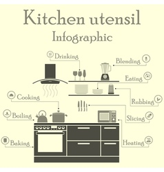 Kitchen utensil infographics vector image vector image