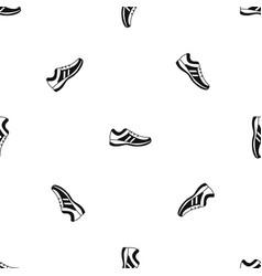 men sneakers pattern seamless black vector image vector image
