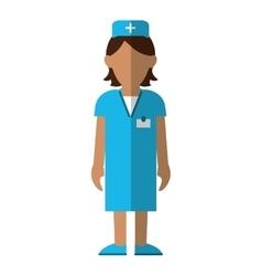 Nurse staff care clinic uniform hat cross vector