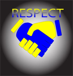 Respect Shaking hands vector image vector image