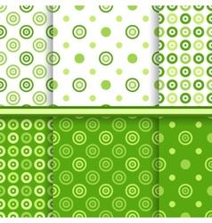 Set of dot seamless patterns vector image