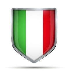 Shield with flag Italy vector image