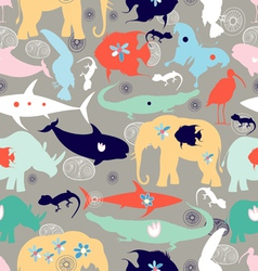 texture of different wild animals vector image vector image