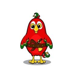 Cute cartoon pirate parrot vector image vector image