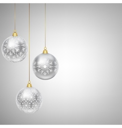 hanging bauble vector image vector image