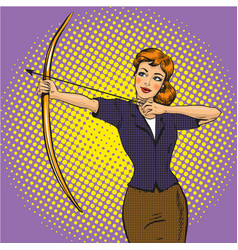 lady archer retro pop art vector image vector image