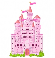 magic princess castle vector image
