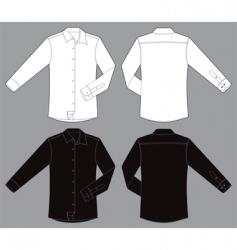 men long sleeves business shirt vector image vector image