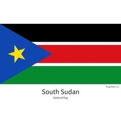 National flag of South Sudan with correct vector image vector image