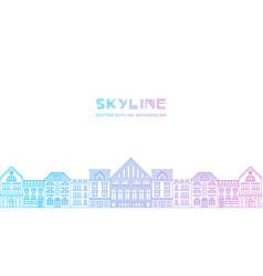 outline city skyline vector image