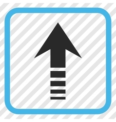 Send up icon in a frame vector