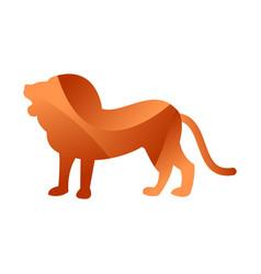 wild lion animal jungle pet logo silhouette of vector image