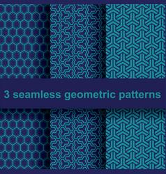 3 geometric patterns vector image