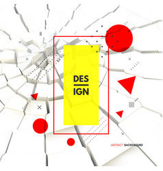 3d cracked background can be used for vector image