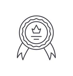 achievement line icon concept achievement vector image