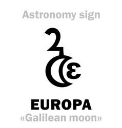 Astrology europa vector