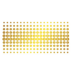bank seal gold halftone array vector image