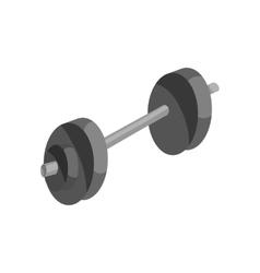 Barbell icon black monochrome style vector image