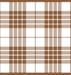 beige and white tartan plaid seamless pattern vector image