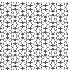 Black and white seamless pattern in arabic style vector image
