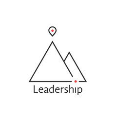 black thin line leadership logo vector image