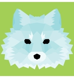 Blue low poly fox vector