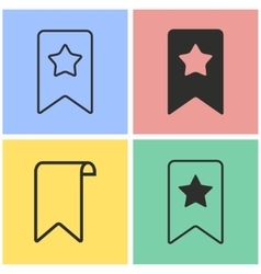 Bookmark icon set vector image