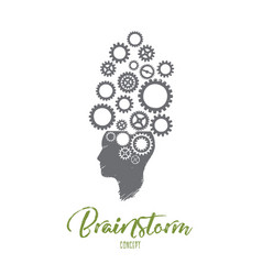 brainstorm concept hand drawn isolated vector image
