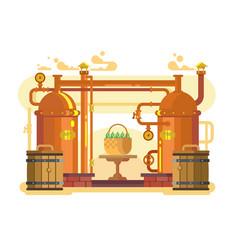 Brewery beer design flat vector