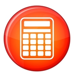 Calculator icon flat style vector