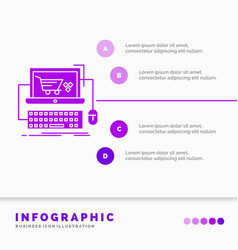 cart online shop store game infographics template vector image