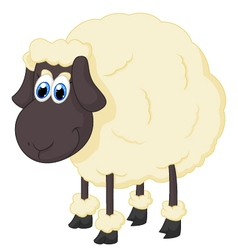 Cartoon adorable sheep vector