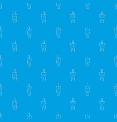champagne pattern seamless blue vector image
