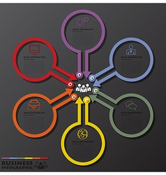 Circles And Arrows Line Business Infographic vector image