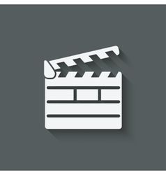 Clapper board design element vector