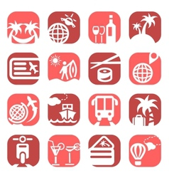 color travel icons vector image