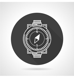 Compass black round icon vector