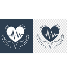 concept of treatment heart silhouette vector image