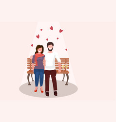 couple in love drinking champagne happy valentines vector image